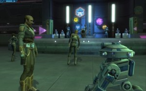 Companion Chat in a Cantina Screenshot Star Wars The Old Republic