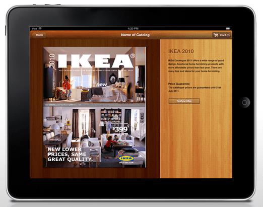 ipad retail catalog