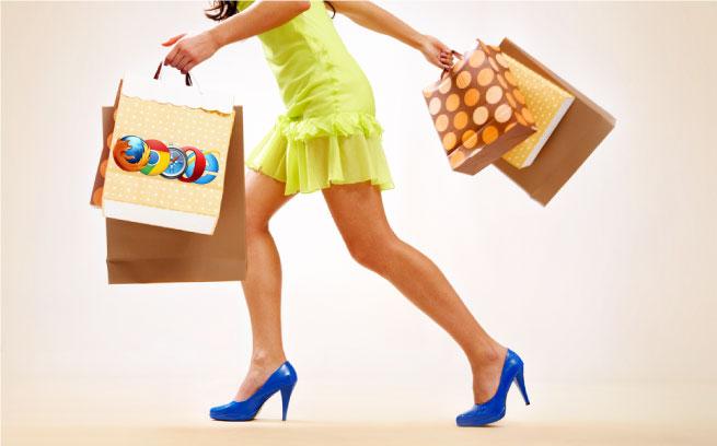 Web browser shopping habits