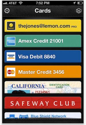 Lemon digital wallet