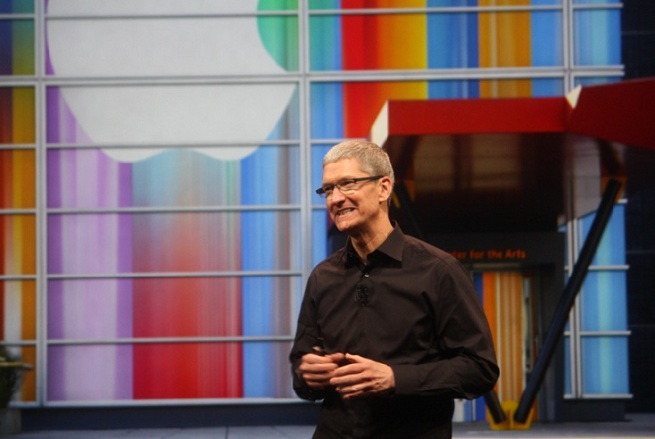 Tim Cook at Apple's iPhone 5 launch event September 12, 2012