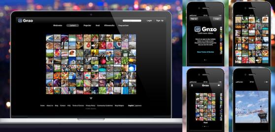 Gnzo screenshots on iPad and iPhone