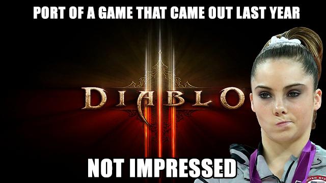 Diablo 3 not impressed
