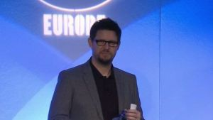 Splash Damage co-founder Paul Wedgwood at the DICE Europe developer conference.