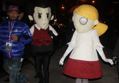Sony characters at PS 4 launch.