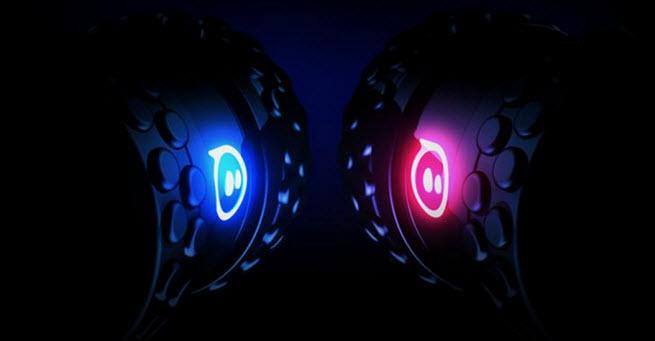 The Orbotix Sphero 2B has interchangeable wheels.