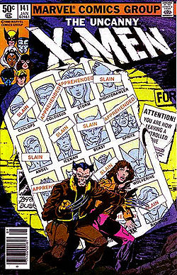 The original cover of X-Men #141.