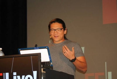 """Andrew """"Bunnie"""" Huang at Embedded Systems Conference."""