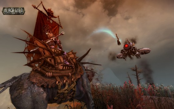Carriers are either giant mechs or mythical beasts, depending on your kingdom of affiliation.