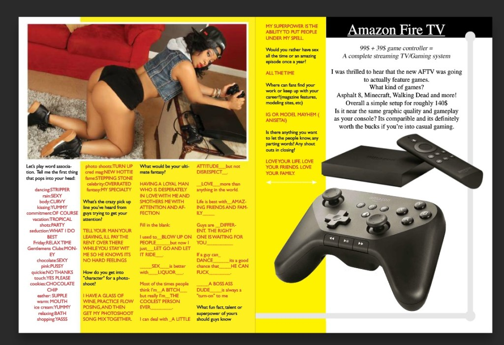 gamer girls review page