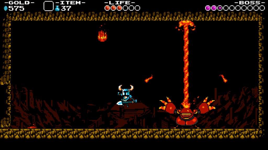 One of Shovel Knight's great bosses is a bit of a hothead.