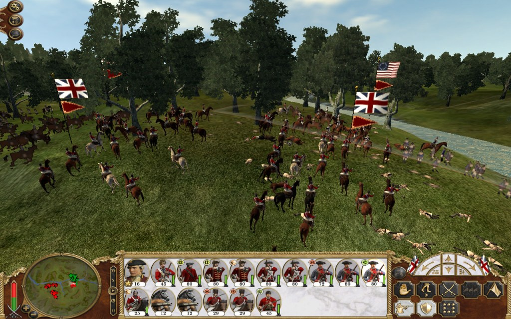 You can lead the United States to victory against the Red Coats in Empire: Total War.