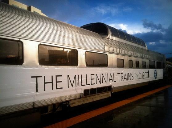 Millennial Trains Project train
