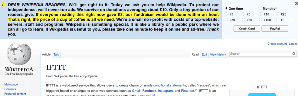 Typical Wiki Ad