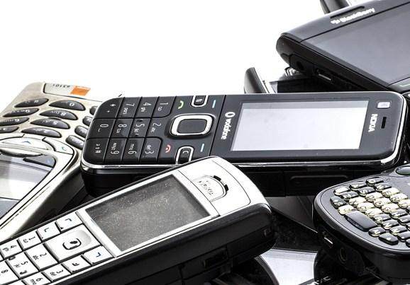 Old Nokia & BlackBerry Phones