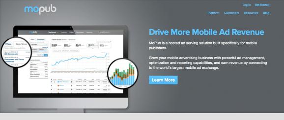 MoPub homepage screenshot