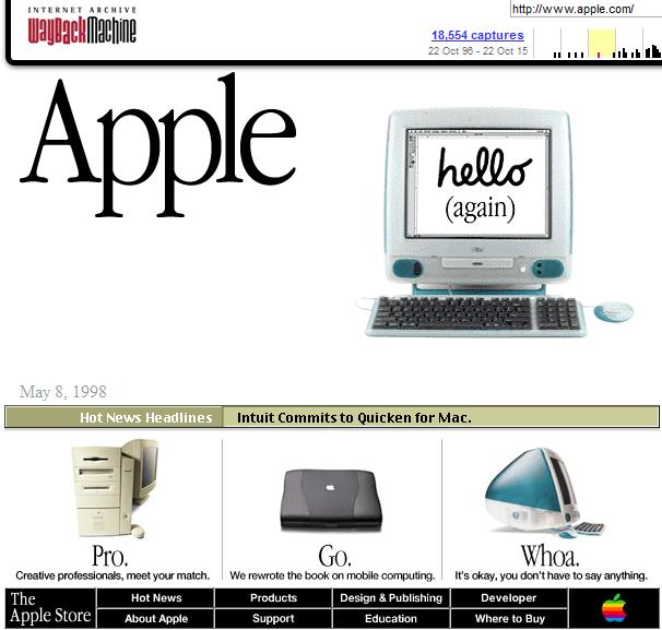 Apple Homepage 1998