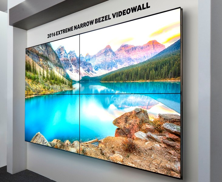 Samsung's new thing-bezel video wall