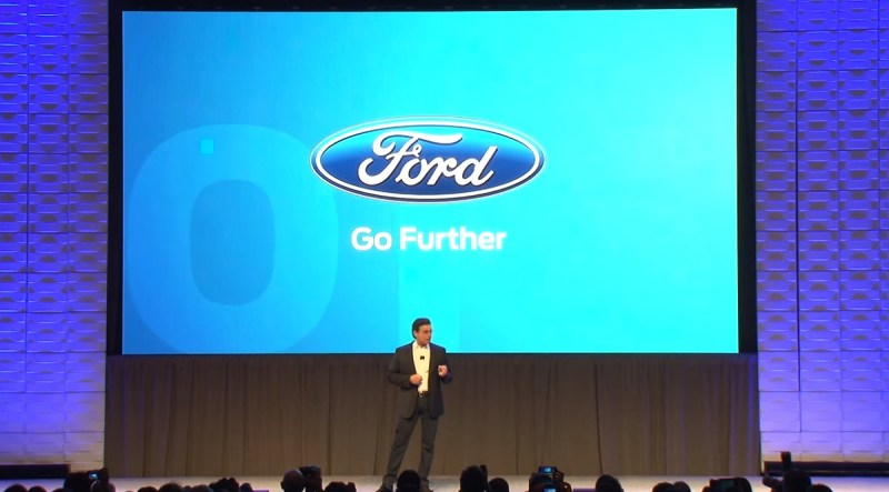 Ford CEO Mark Fields says people searching for parking cause 30% of congestion.