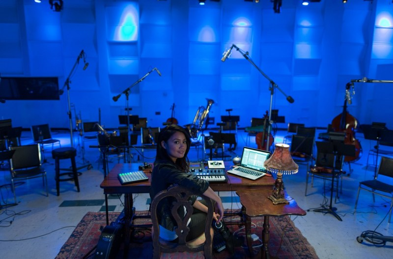 Musician Kawehi creates sounds with Intel technology.