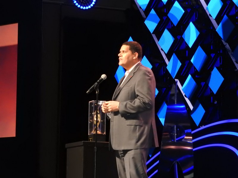 Reggie Fils-Aime of Nintendo of America at the DICE Awards.
