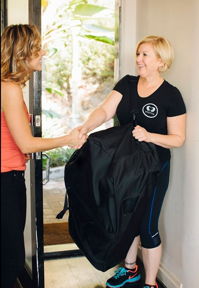 Soothe uses licensed therapists for massages.