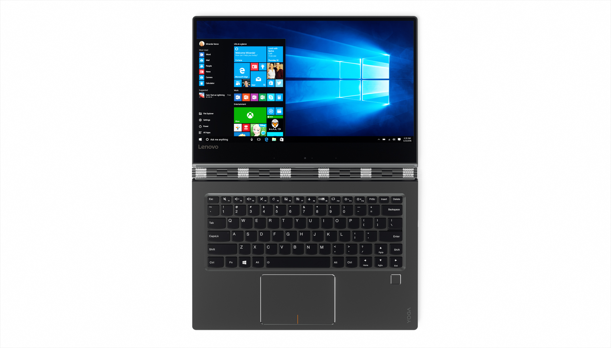 The Lenovo Yoga 910.