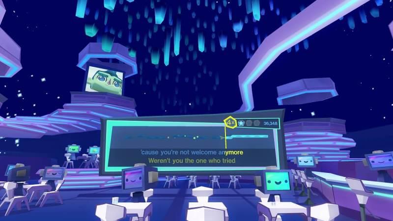 SingSpace is Harmonix's karaoke app.