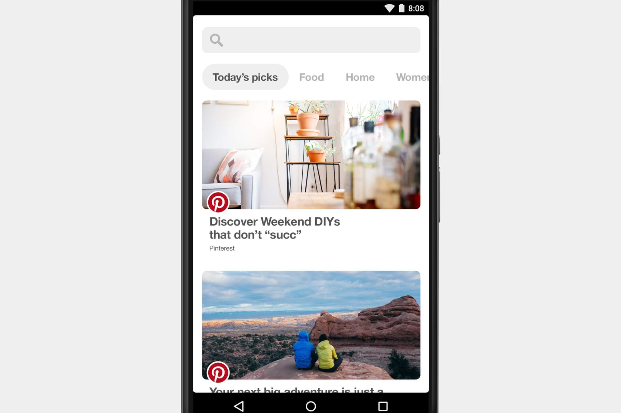 Pinterest Explore on Android