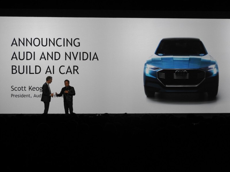 Nvidia has partnered with Audi on AI cars.