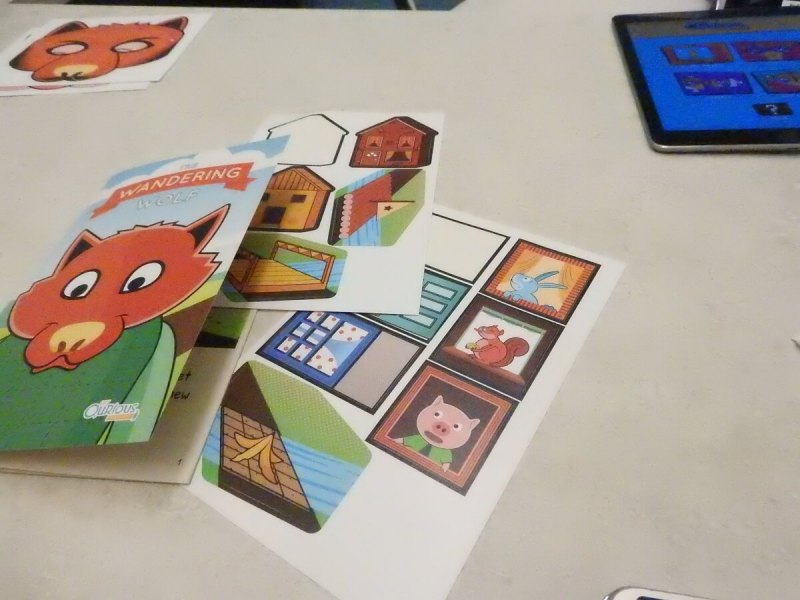 Get Qurious combines an iPad and physical cards.