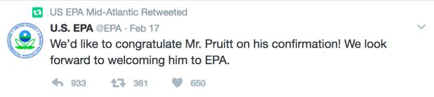 EPA Pruitt retweet