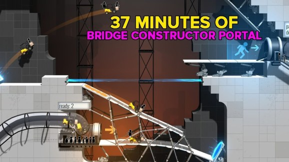 Bridge Constructor Portal builds a beautiful crossover connection