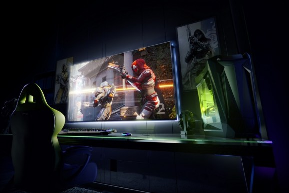 Nvidia supersizes PC gaming with Big Format Gaming Displays