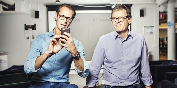iZettle co-founders Jacob De Geer (left) and Magnus Nilsson