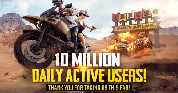 pubg-mobile PlayerUnknown's Battlegrounds hits 10 million daily active users on mobile