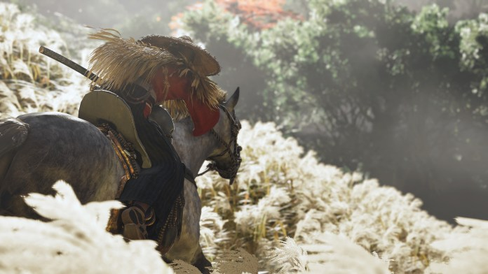 The fauna sways in the wind in Ghost of Tsushima.