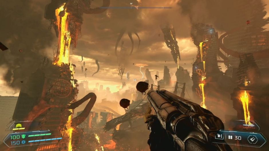 Doom Eternal gameplay reveals grappling hook action and more | VentureBeat