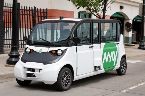 May Mobility's autonomous shuttle.