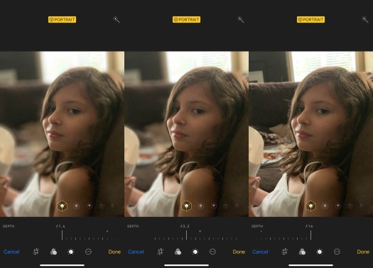 The new XS Portrait Mode lets you adjust background blur (bokeh) from f/1.4 to f/16 after taking a photo.
