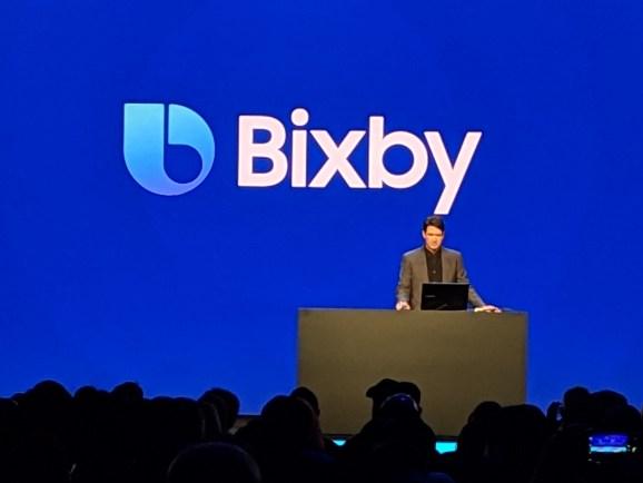 Viv Labs cocreator Adam Cheyer onstage at Samsung Developer Conference held Nov. 7 at the Moscone Center in San Francisco, California