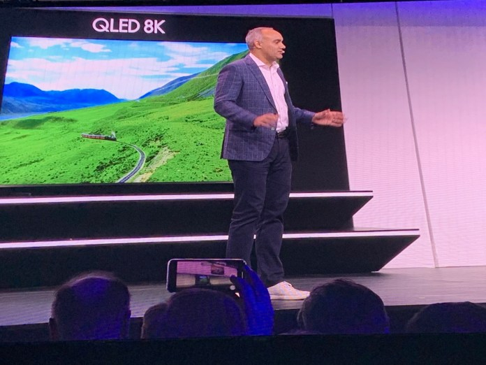 Samsung's 98-inch QLED TV with 8K display.