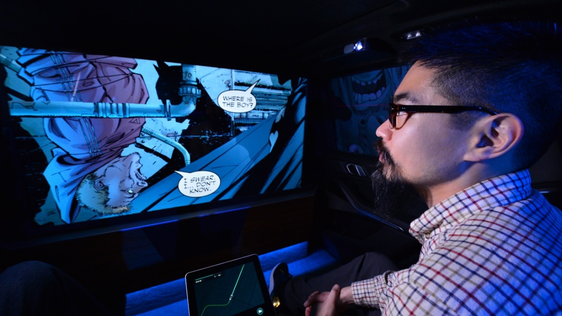 Intel and Warner Bros. show off Batman experience for self-driving car
