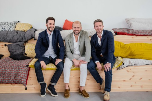 Leff to right:  CEO Jean Canzoneri; co-founder and CEO of USA, Thomas Pasquet; and COO and co-founder Jules Minvielle.