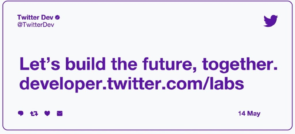twitter labs launch card - Twitter opens Developers Labs program to test new API products