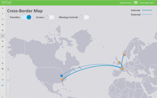 Cross-border data-mapping with OneTrust