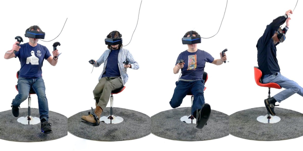 Cybershoes enable VR users to physically walk, run, and jump for $400 |  VentureBeat