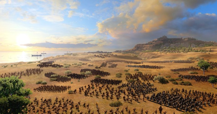 Total War Saga: Troy will play thousands of Greeks against the Trojans in real-time strategy battles.
