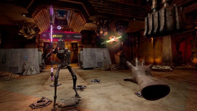 Lightsaber Dojo II in Vader Immortal: Episode II.