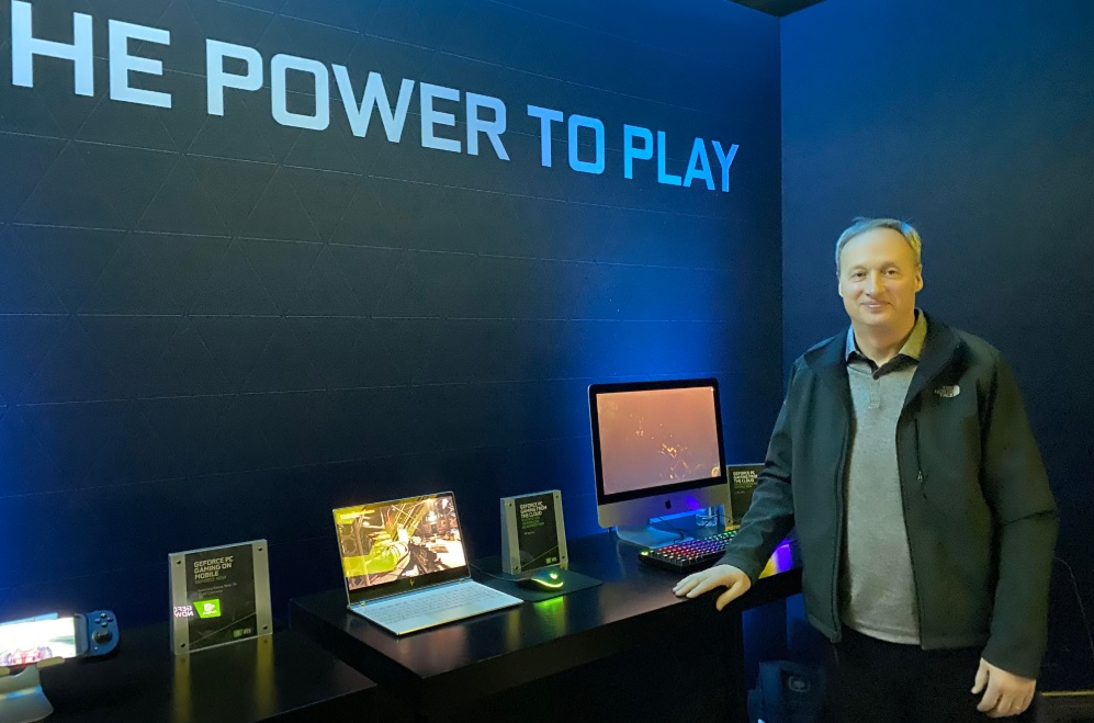 Cloud Computing: GeForce Now general manager Phil Eisler at CES 2020.